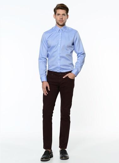George Hogg Slim Fit Pantolon Bordo
